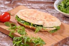 Sandwich with arugula Royalty Free Stock Photos