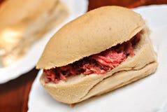 Sandwich asiatique à pains de pain de Pandesal Image stock
