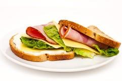 Sandwich au jambon Images libres de droits