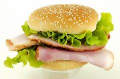 Sandwich au jambon Photographie stock libre de droits