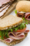 Sandwich au jambon Photo stock