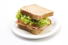 Sandwich au jambon Images stock