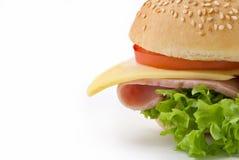 Sandwich au jambon coupé en tranches Photographie stock libre de droits