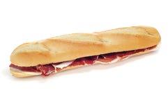 Sandwich au jambon espagnol de serrano Image stock