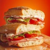 Sandwich au jambon savoureux Images libres de droits