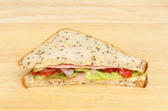Sandwich auf einem Brett Stockfoto