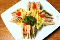 Sandwich auf einer Platte Lizenzfreie Stockfotografie