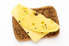 Sandwich avec de la laitue, fromage sur le fond blanc photographie stock