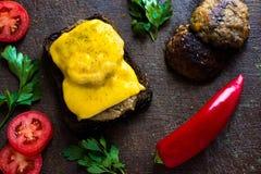 Sandwich avec des légumes images libres de droits
