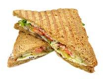 Sandwich avec des saumons Photographie stock libre de droits