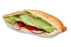 Sandwich avec des thons et des tomates Photos libres de droits