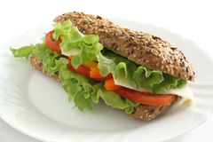 Sandwich avec du fromage Photo stock
