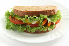 Sandwich avec du fromage Photographie stock