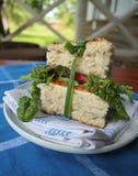 Sandwich avec du fromage et la laitue Photographie stock libre de droits