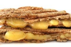 Sandwich avec du fromage fondu Photos libres de droits