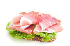 Sandwich avec du jambon Photographie stock libre de droits