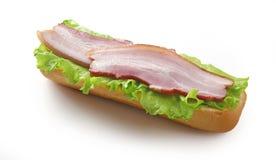 Sandwich avec du jambon images libres de droits