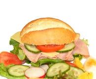 Sandwich avec du jambon et le fromage Image stock