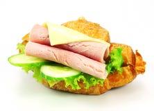Sandwich avec du jambon, fromage Photo stock