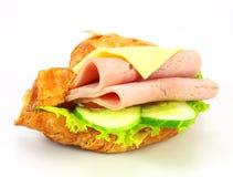 Sandwich avec du jambon, fromage Image libre de droits