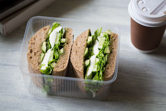 Sandwich avec du mozzarella Image libre de droits