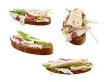 Sandwich avec du porc coupé en tranches photo stock