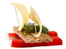 Sandwich avec la chair de crabe Image stock