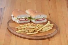 Sandwich avec la pomme de terre Photos libres de droits
