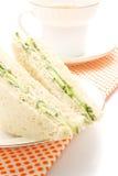 Sandwich avec le concombre Photographie stock