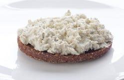 Sandwich avec le fromage blanc Image libre de droits
