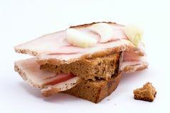 Sandwich avec le lard Photographie stock libre de droits