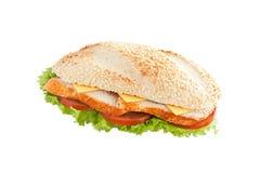 Sandwich avec le poulet images stock