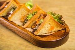 Sandwich avec le poulet Image stock