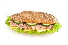 Sandwich avec le thon photographie stock