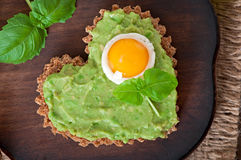 Sandwich with avocado paste and egg Stock Photography