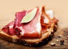 Sandwich with bacon Stock Photos