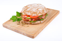 Sandwich with bacon Royalty Free Stock Photography