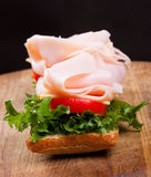 Sandwich with bacon Royalty Free Stock Photo