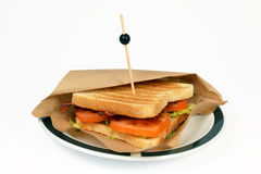 Sandwich bacon BLT. Royalty Free Stock Photo