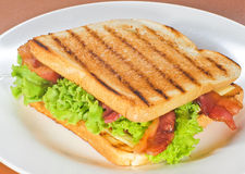 Sandwich. With bacon and cheese Stock Images