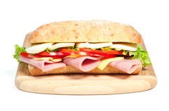 Sandwich with bacon and cheese Royalty Free Stock Image