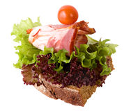Sandwich with bacon and salad Stock Images