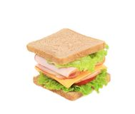 Sandwich with bacon and vegetables. Stock Image