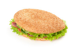 Sandwich with bacon and vegetables Royalty Free Stock Image