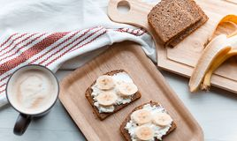 Sandwich with banana Royalty Free Stock Image