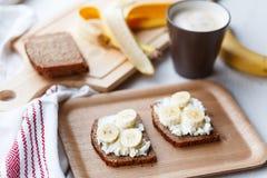 Sandwich with banana Stock Photography