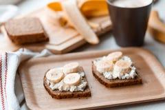 Sandwich with banana Royalty Free Stock Photo
