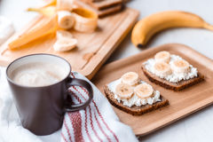 Sandwich with banana Royalty Free Stock Photography
