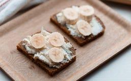 Sandwich with banana Stock Photo
