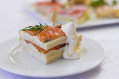 Sandwich for banquet. Sandwich for a banquet with sause Royalty Free Stock Photography